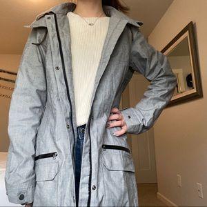 Long Columbia Rain Jacket/Trench Coat